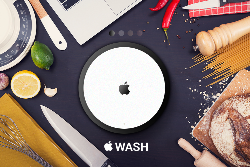 Apple Wash noir