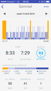 Application withings aura