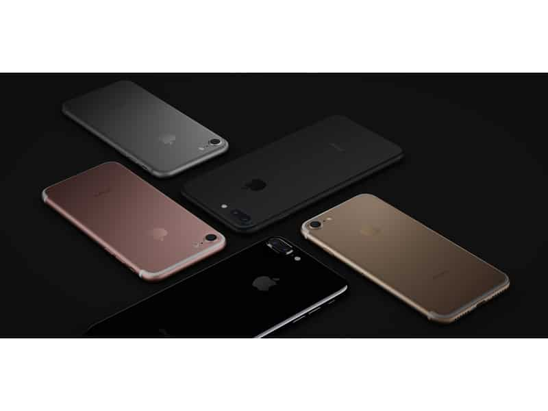 iPhone 7 : gris noir rose or