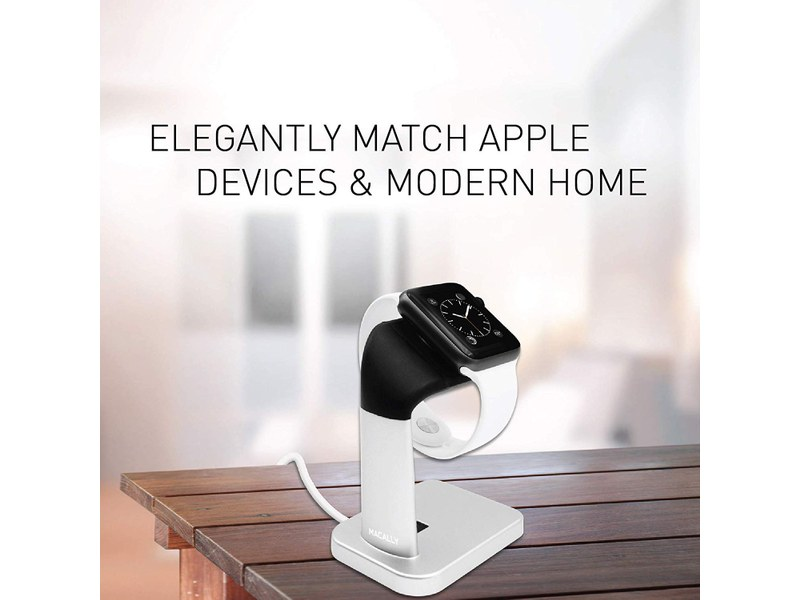 Macally MWATCHSTAND Silver - Support de charge pour Apple Watch